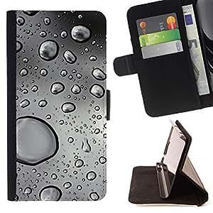 Momo Phone Case / Flip Funda de Cuero Case Cover - Gotas de agua;;;;;;;; - Apple Iphone 6 PLUS 5.5