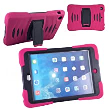 Xtra-Funky Exclusive iPad Mini 1& 2 Heavy Duty Dual Layer Silicon and Plastic Shock Absorbing Ultimate Protective Case with Built in Stand and Protective Screen layer - PINK