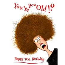 "Happy 70th Birthday: You're How Old!? Notebook, Journal, Diary, 105 Lined Pages, Funny Birthday Gifts for 70 Year Old Men or Women, Husband, Wife, Grandma, Grandpa, Grandparent, Best Friend, Sister or Brother, Book Size 8 1/2"" x 11"""