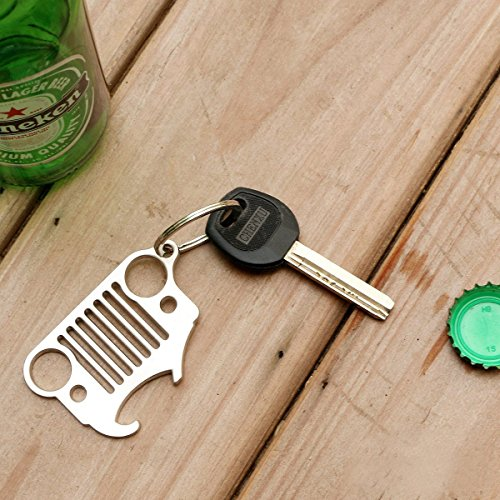 jeep grill keychain bottle opener apphome heavy duty 304 stainless steel key chains with. Black Bedroom Furniture Sets. Home Design Ideas