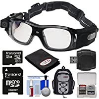 Coleman VisionHD G5HD-SPORT 1080p HD Action Video Camera Camcorder Waterproof POV Sports Safety Goggles with 32GB Card + Backpack + Anti-Fog Cloth + Reader + Kit