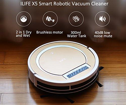 ILIFE X5 Smart Aspirador Robótico Inteligente Mando a distancia, 2 ...