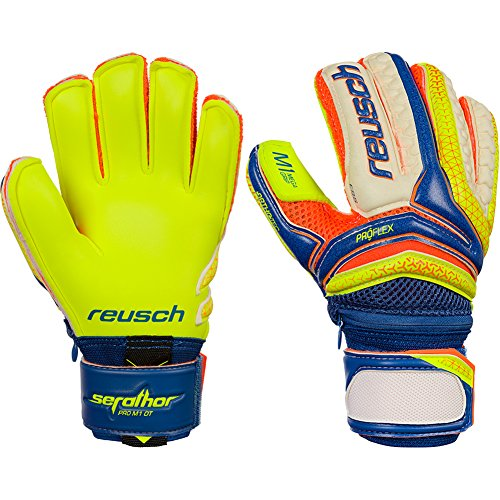 Boys Reusch Serathor Pro M1 Ortho-Tec Junior 8 Junior Goalkeeper Gloves Blue For Soccer (Ortho Tec Glove)