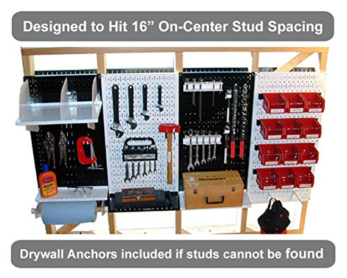 Wall Control 30-GP-3216 GV 32'' x 16'' Galvanized Metal Pegboard Tool Board Panel by Wall Control (Image #8)