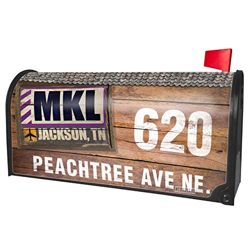 NEONBLOND Custom Mailbox Cover Airportcode MKL Jackson,