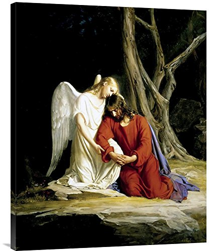 """Global Gallery GCS-453886-2835-142 """"Carl Bloch Agony In The Garden"""" Gallery Wrap Giclee on Canvas Wall Art Print from Global Gallery"""