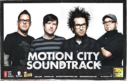 2013 Motion City Soundtrack Vans Warped Tour Go CD promo Band Poster 17
