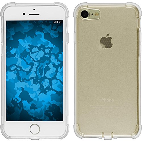 PhoneNatic Case für Apple iPhone 8 Hülle Silikon clear Shock-Proof Cover iPhone 8 Tasche + 2 Schutzfolien