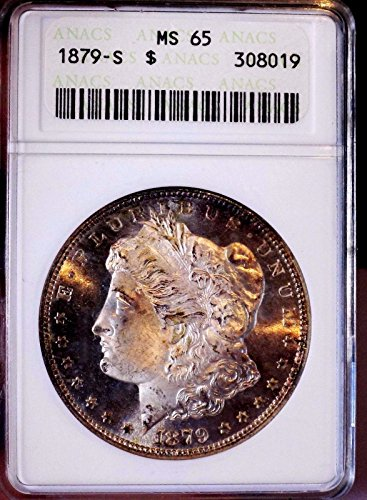 Morgan Silver Dollar 1879 S ANACS MS 65+++ Should Be PL Toned Old Holder WOW