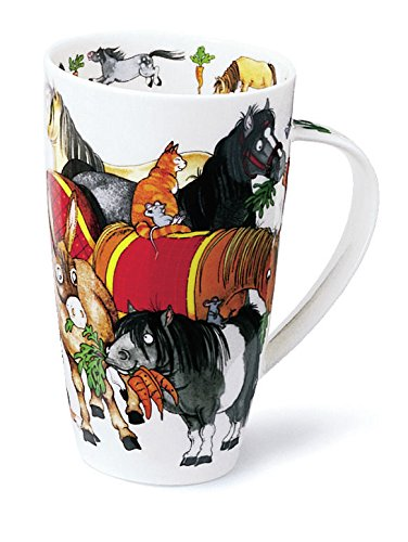 Gorgeous 'Hoofers' Horses by Dunoon Fine Bone China Large Mug Henley -