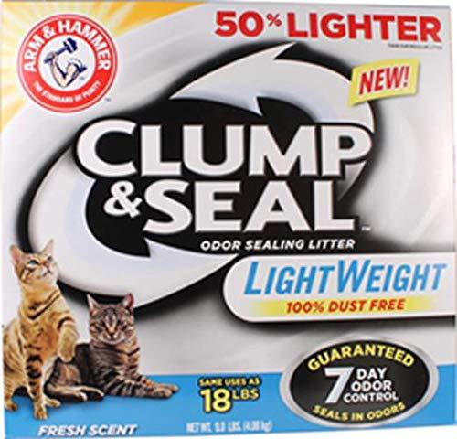 Arm & Hammer Clump & Seal Lightweight Litter, Fresh Scent 9 Lbs