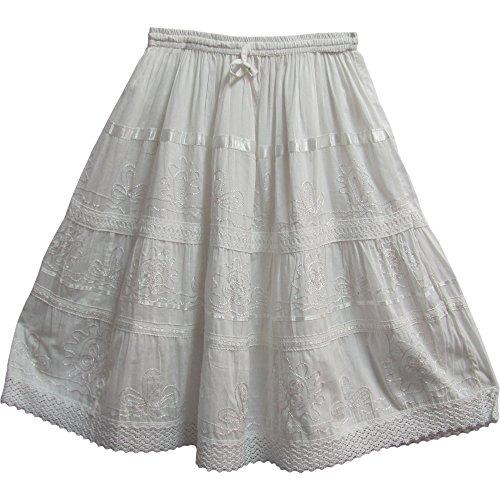 Crochet Trim Tiered Skirt - 4