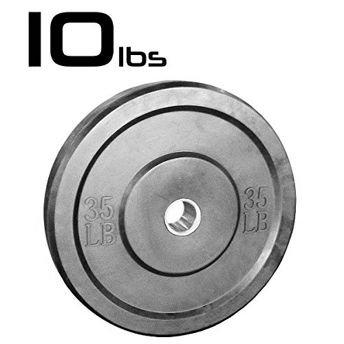 10lb Bumper Weight Plate 2 Inch Amstaff Fitness