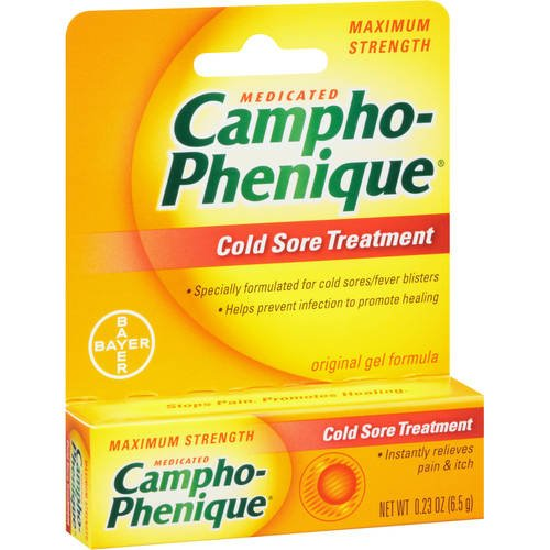 Campho-Phenique Cold Sore Gel Original, 0.23 oz (Pack of 3)