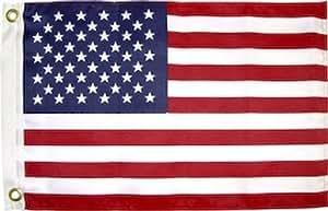 Usa bandera, 30,48 cm x 45,72 cm, tela de tinte perma, arandelas de óxido resistente a la decoloración para casa Banner Latón Arandelas resistente a la decoloración doble costura Premium calidad poliéster