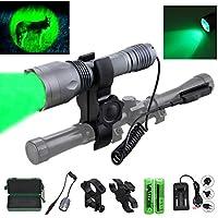 350 yard Green Hunting Flashlight 1 Mode Hog Predator...