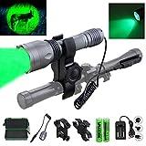 Best Light Flashlight With Scope Mounts - 350 yard CREE LED Green Flashlight 1 Mode Review
