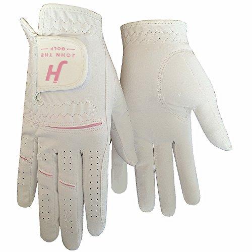 Finger Ten JT Women's Ladies Girl Rain Grip Cool Comfortable Durable Large Left Lh Right Rh Hand Golf Gloves Value Pair