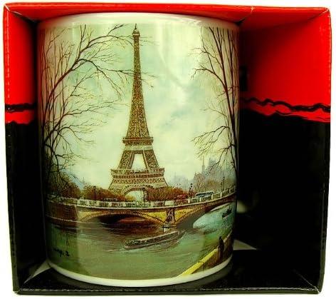 Recuerdos de Francia - taza de desayuno de la torre Eiffel - Color: blanco