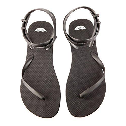 Sandales Flip Flip Noires Onyx Fleeps Womens - Tongs Uniques, Élégantes Et Confortables Qui Redonnent À Léducation Des Femmes