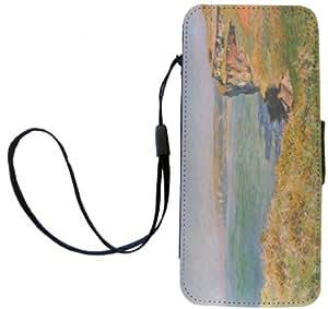 Rikki Knight Claude Monet Art Flip Wallet Case for iPhone 5/5s - Non-Retail Packaging - Cliffs at Varengeville