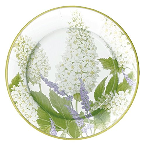 - Entertaining with Caspari Fleur De Mariage Salad/Dessert Plates, White, 8-Pack