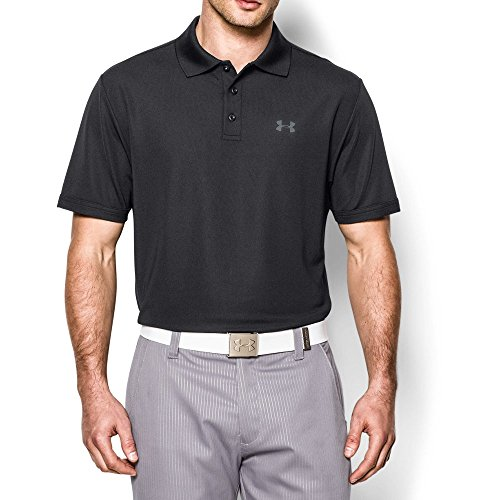 Performance Mens Golf Polo (Under Armour Men's Performance Polo, Black/Steel, Large)