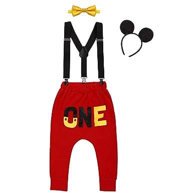 FYMNSI - Disfraz de Mickey con Tirantes para bebé, Pantalones ...
