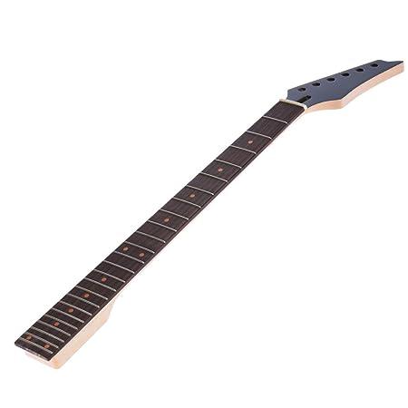 ammoon 24 Trastes Nuevo Reemplazo Cuello de Arce Diapasón de Palisandro Diapasón para la Guitarra Eléctrica Epiphone: Amazon.es: Instrumentos musicales