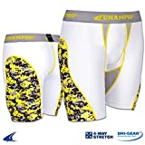 Champro BPS11 Womens Fastpitch Softball Sliding Short BPS11 Womens White, Grey Panel 2XL