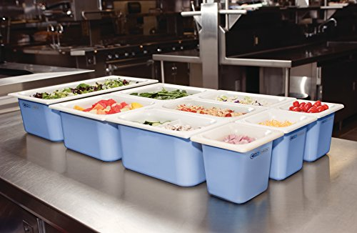 Carlisle CM1100C1402 Coldmaster CoolCheck 6'' Deep Full-Size Insulated Cold Food Pan, 15 Quart, Color Changing, White/Blue by Carlisle (Image #6)