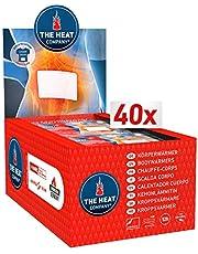 THE HEAT COMPANY kroppsvärmare – 10 eller 40 stycken – värmeplåster baksida – extra varm – självhäftande – kroppsvärmare – ryggvärmare – varm varm vid 12 timmar – luftaktiverad – helt naturlig