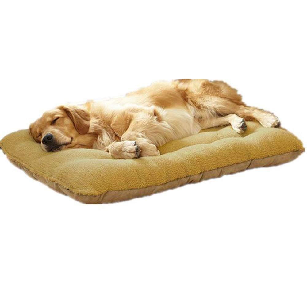 A L 100x75x17cm A L 100x75x17cm SHYPwM Pet Beds Super Plush Dog Cat Beds Ultra-Soft Warm Paw Print Pet Bed Sofa Mattress Pet Bed (color   A, Size   L 100x75x17cm)