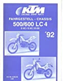 320352 1992 KTM 500 600 LC4 EXC DXC EGS Chassis Spare Parts Manual