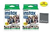 Fujifilm Instax Wide Instant Film for Fuji Instax Wide 210 200 100 300 Instant Photo Camera+ Fiber Micro PRO ULTIMATE Cloth (40 Photo Sheets)