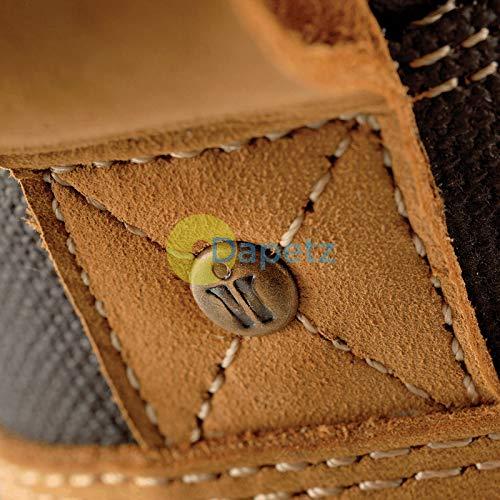 Trabajo Pu Torcedor 47 Con 12 Flexible Tostado Seguridad rubber Piel Sintética to Suela Dapetz Size Botas wRdqzTzI