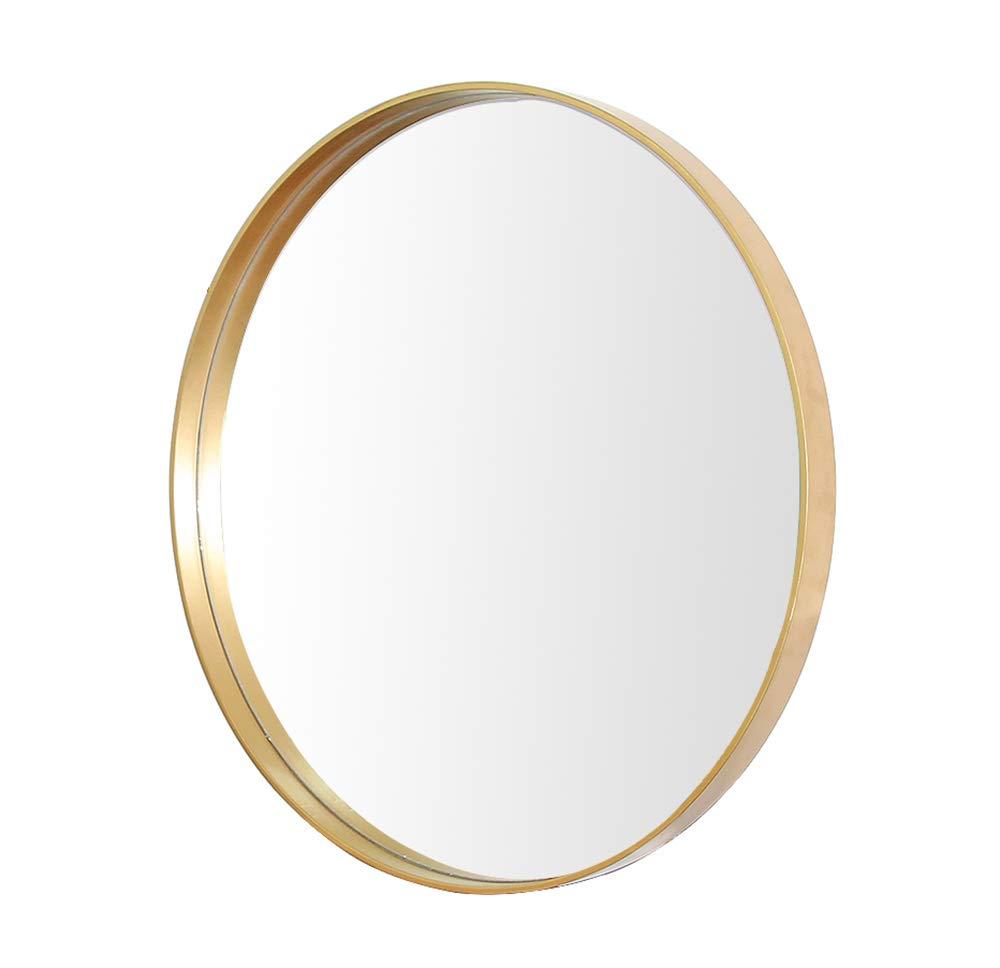 Mirror Bathroom, Wrought Iron Wall, Vanity, Simple Round, Waterproof and Easy to Clean LI MEI US