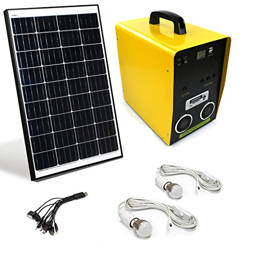ALEKO BCH03K50AH Solar Outdoor Generator, 12V 50W, 50AH w...