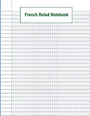 French Ruled Notebook: French Ruled Paper   Seyes Grid