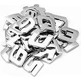 42 números letras Pegatina Adhesivo plata Vehículo coche puerta ventana