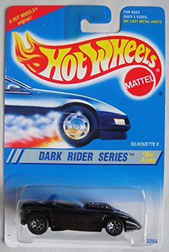 HOT WHEELS DARK RIDER SERIES #3 OF 4 CARS, BLACK SILHOUETTE II 7 SPOKE A HOT WHEELS ORIGINAL ()