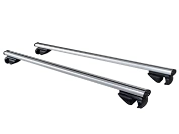 TMS 48u0026quot; Universal Car Wagon Aluminum Roof Top Rail Rack Cross Bars  Luggage Carrier