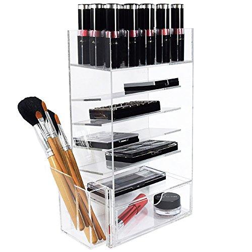 Ikee Design Acrylic Lipstick Organizer Makeup Brush Holde...