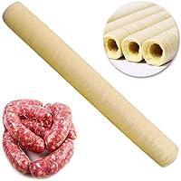 Whewer Collagen Casing Sausage Casing Sausage Maker Collagen Wrapping for Roast Sausage Dried Sausage Hot Dog Ham 14mx20mm