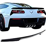 Pre-painted Trunk Spoiler Fits 2014-2018 Chevy Corvette | OE Factory Style ABS Painted Berlin Blue Metallic # WA122V Boot Lip Rear Spoiler Wing Other Color Available By IKON MOTORSPORTS | 2015 2016