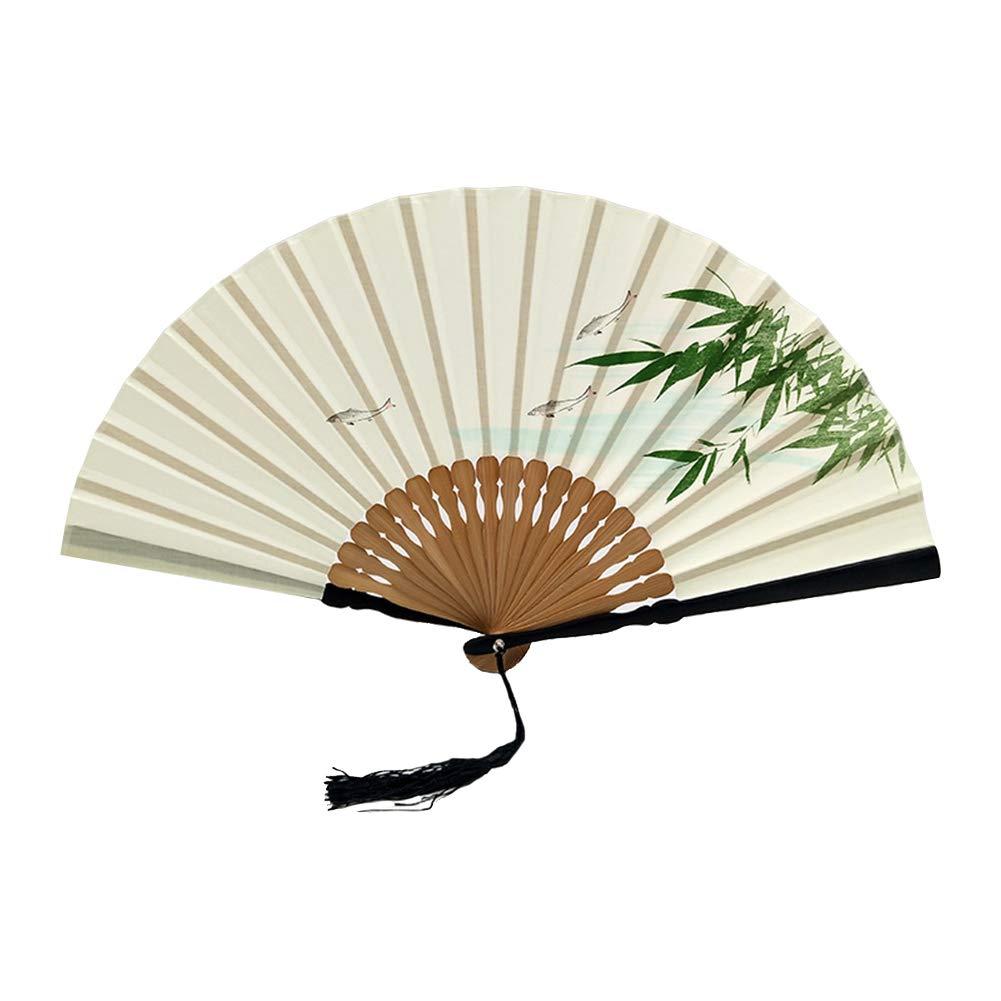 kentop Ventaglio pieghevole scomparti classico cinese scomparti Ventaglio Da Parete In Bamb/ù Fans scomparti per festa di nozze decorazione parete decorazione regali 23 cm Stil-1