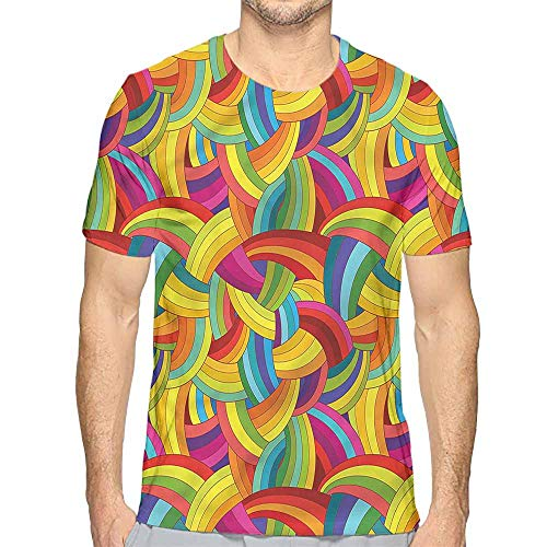 Comfort Colors t Shirt Abstract,Rainbow Tone Psychedelic t Shirt ()