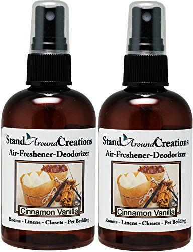 Set of 2 - Concentrated Spray For Room / Linen / Room Deodorizer / Air Freshener - 4 fl oz - Scent - Cinnamon Vanilla - The scent of spicy cinnamon w/ sweet vanilla. by Stand Around Creations