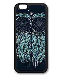 Black Case for iphone 6 Plus,Fashion Cool Art Art Owl Custom Protective Soft TPU Back Case Cover for iphone 6 Plus