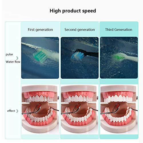 OMLTER Intelligent High Frequency Vibration Whitening Electric Toothbrush for Sensitive Oral Cleaning Brush 2 Minutes Timing 5 Mode Conversion with Area Reminder Function USB Charging,Pink
